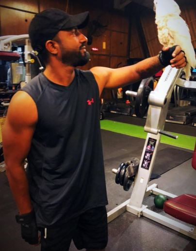 Suren Sundaram inside the gym