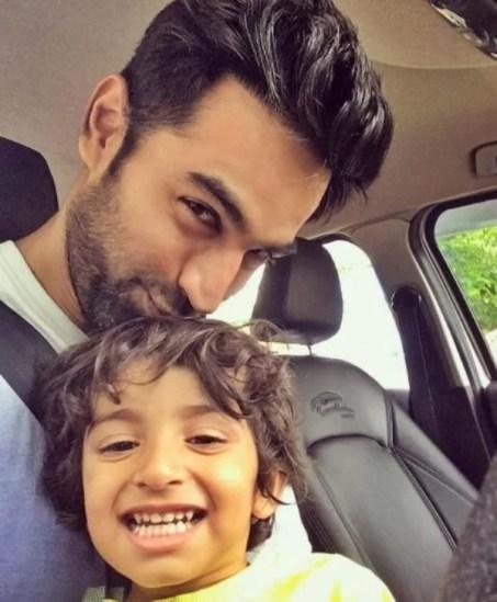 Nishant with his Nephew