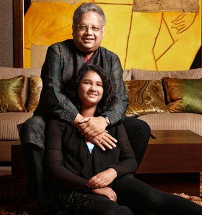 Rakesh Jhunjhunwala with his daughter Nishtha