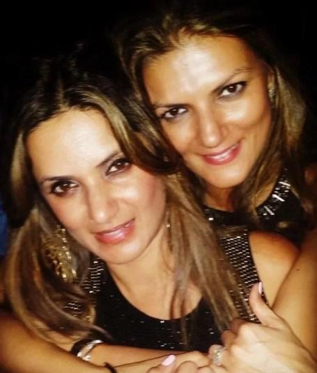 Nandita Mahtani with her sister