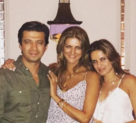 Nandita Mahtani with her siblings