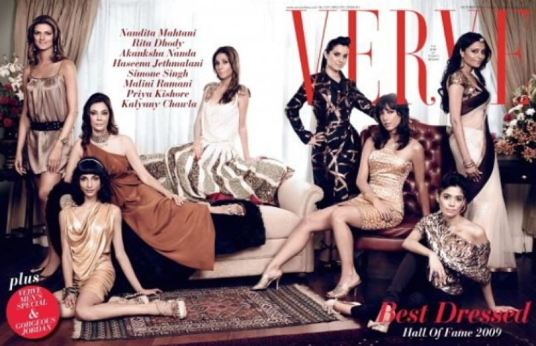 Nandita Mahtani on the cover of the Verve magazine