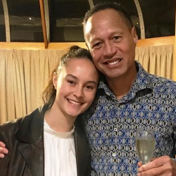 Erana James with her father