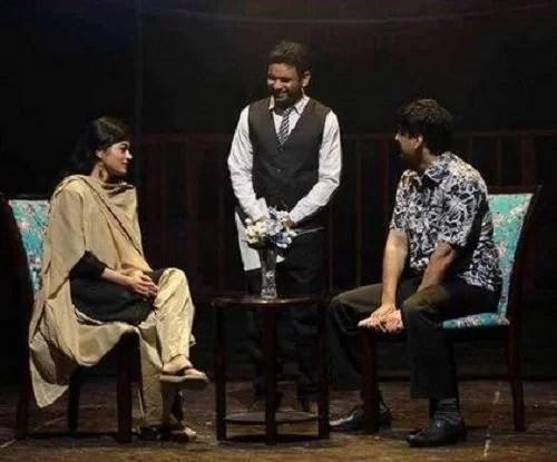 Tasneem Khan in a theatre play