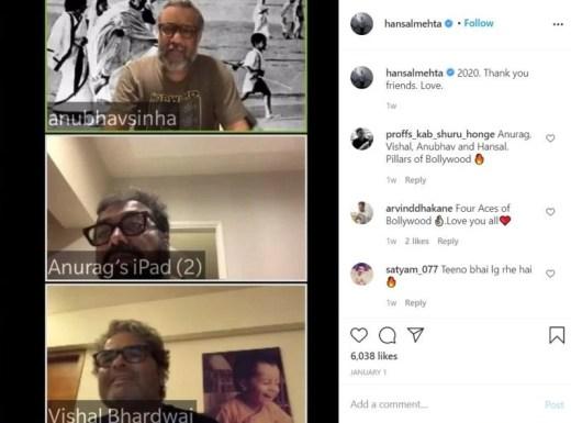 Hansal Mehta's instagram post about his friends