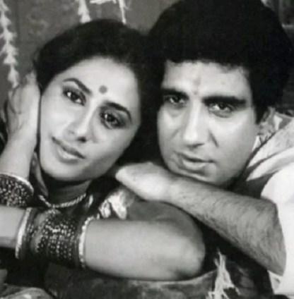 Raj Babbar with Smita Patil