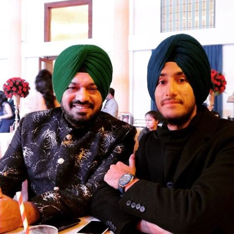 Gurpreet Ghuggi with his son, Sukhan Wariach
