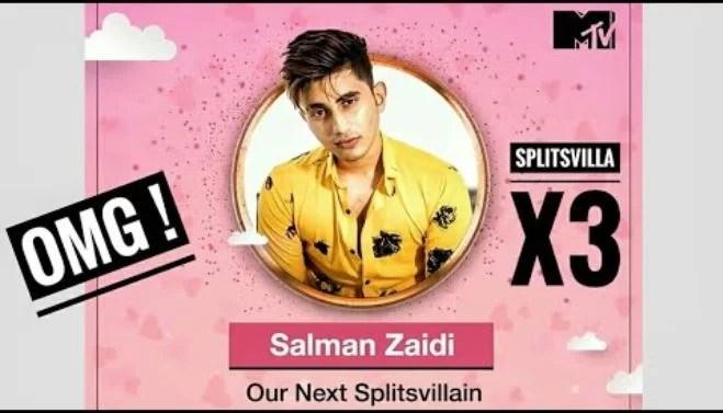 Salman Zaidi as a contestant of Splitsvilla X3