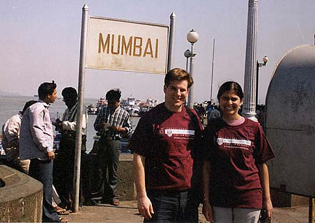 An old picture of Mala Adiga in Mumbai along with her husband, Charles Biro