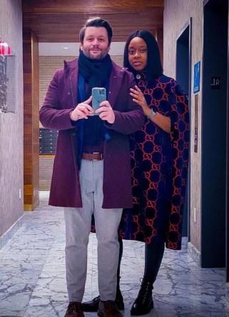 Phoebe Robinson with her boyfriend