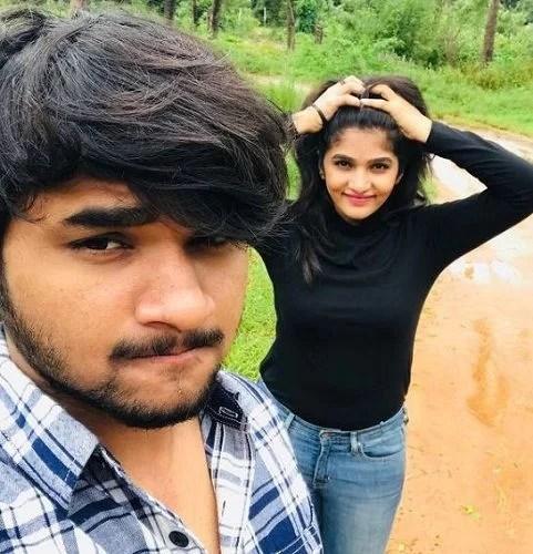 Divya Suresh and her brother, Darshan