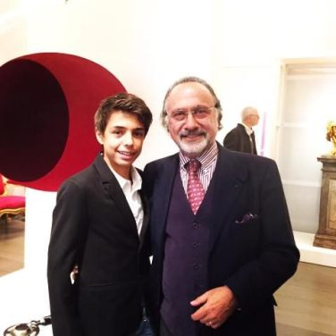 Olivier Dassault with his son, Remi