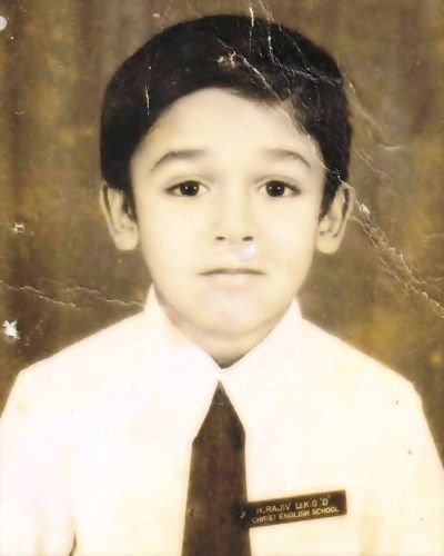 A childhood picture of Rajeev