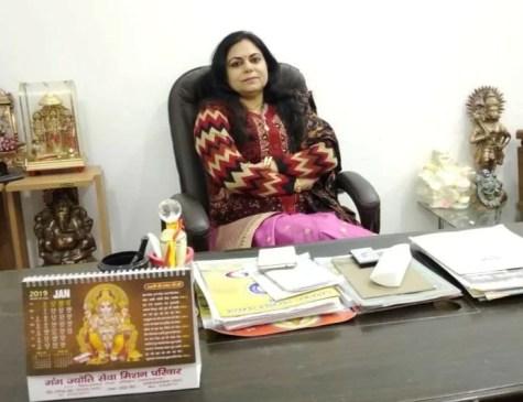 Rashmi Tyagi inside her office cabin at D.A.V. Post Graduate College Dehradun