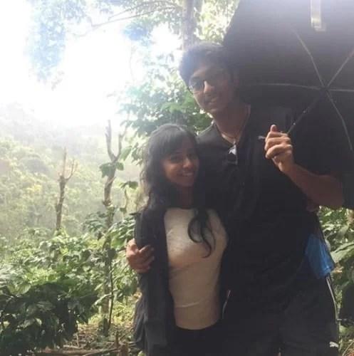 Ashwath Sezhian with his fiancee