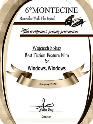 Wojciech Solarz's cerficate from Montevideo World Film Festival