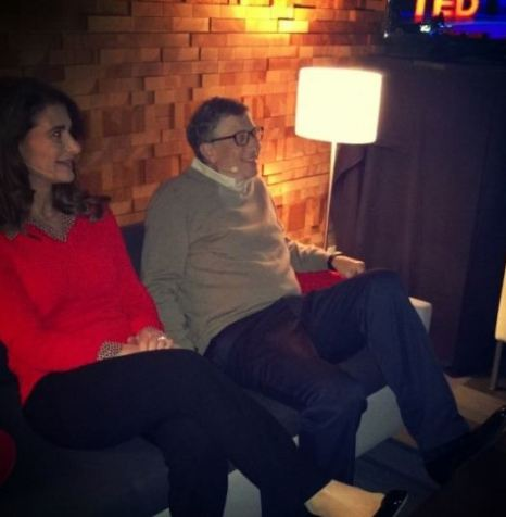 Melinda and Bill Gates at TED conference in Vancouver