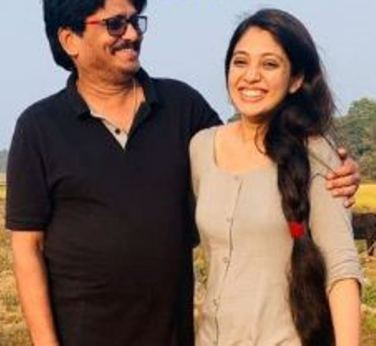 Veena with her father