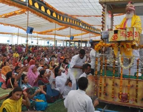 Asaram during a Satsang