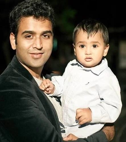 Nithin Kamath and his son