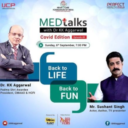Dr. K. K. Aggarwal's Instagram post about his programme Medtalks