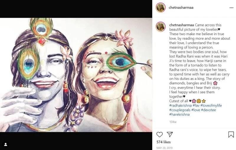 Chetna Sharma's Instagram post