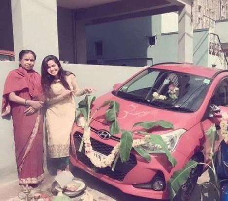 Shobha Shetty's car