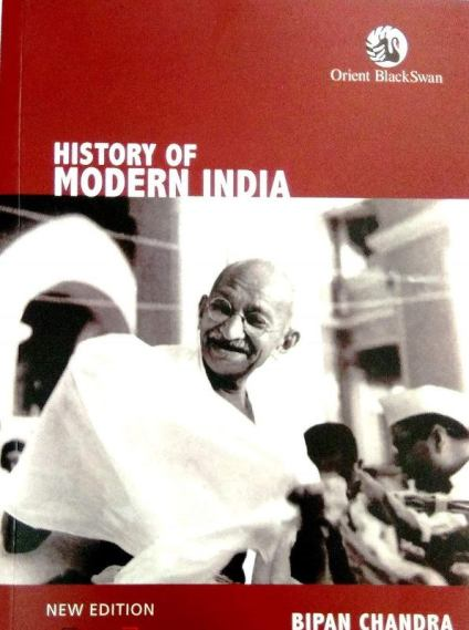 History of Modern India, a book written by Bipan Chandra for UPSC exams