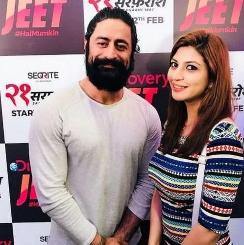 Sara Sharma with Mohit Raina