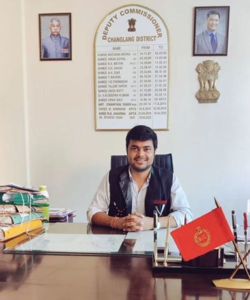 Devansh Yadav in his office