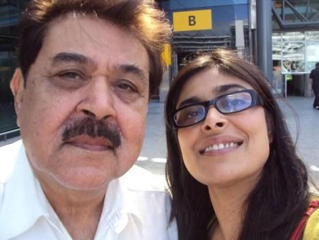 Nimra Bucha with her father