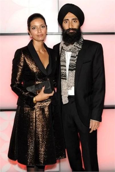 Hosts jewelry designer Waris Ahluwalia and author Jhumpa Lahiri mingled on Vuitton's festival of lights in 2010