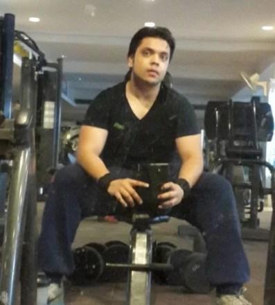Deepanshu Singh inside the gym