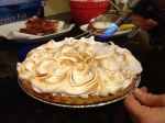 Sweet potato and pumpkin pie with sage meringue