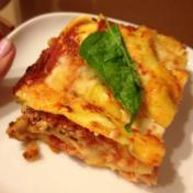 lasagna with fresh pasta made with Von Kroug eggs