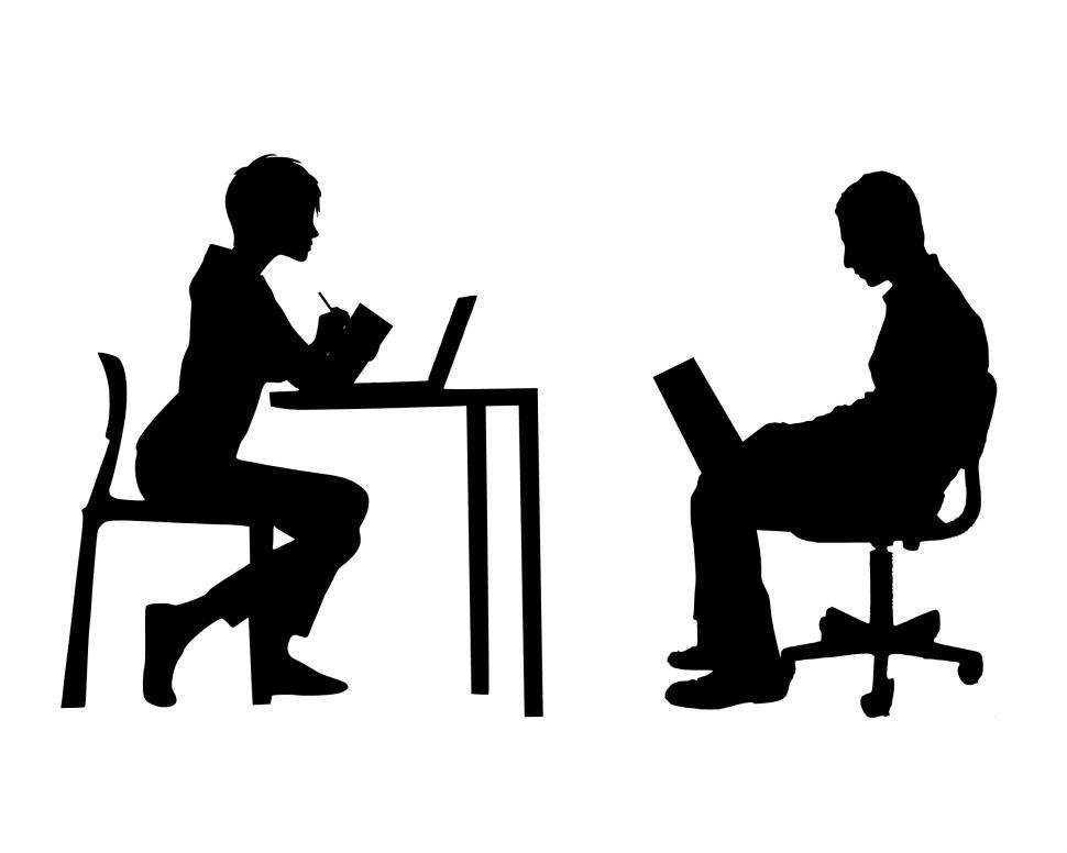Get Free Stock Photos of team meeting Silhouette Online