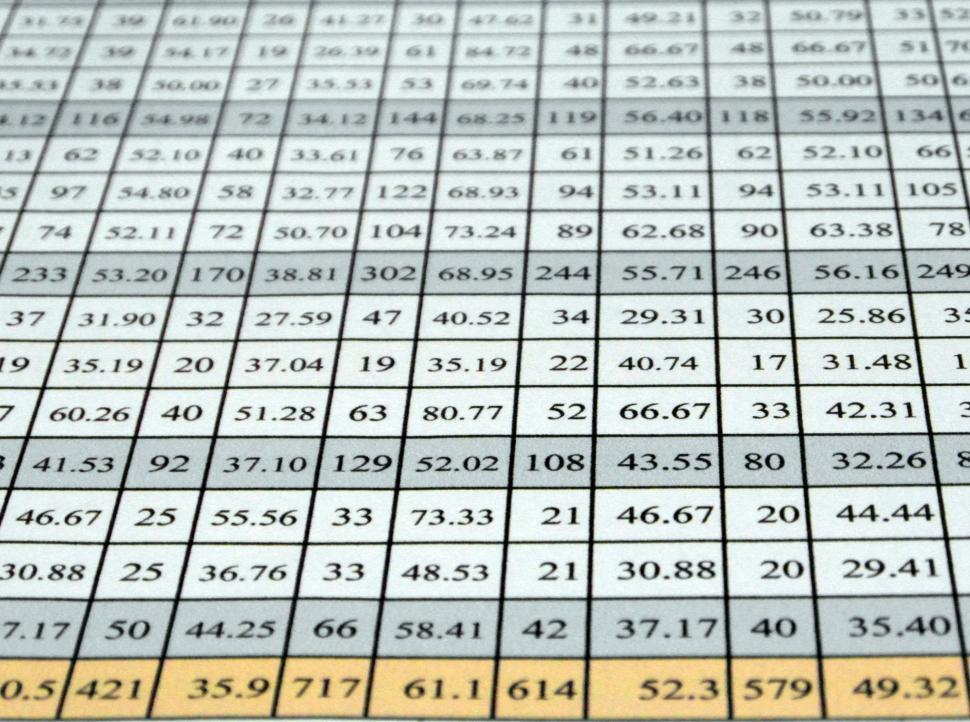 Get Free Stock Photo of Excel Data Table Online