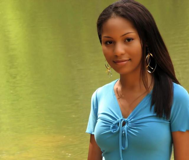 Download Free Stock Hd Photo Of A Beautiful African American Teen Girl Posing By A Lake