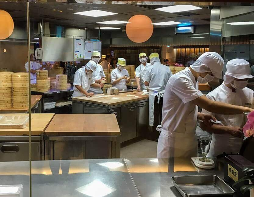 Din Tai Fung Restaurant - you can see how they make dim sum