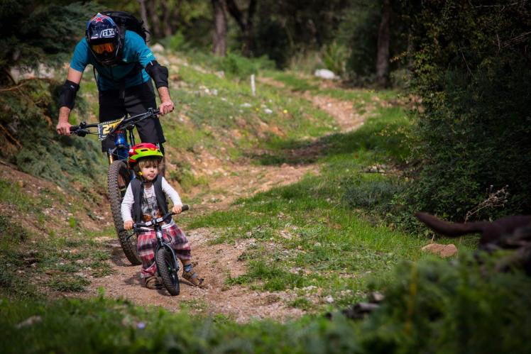Father and Son Mountainbike