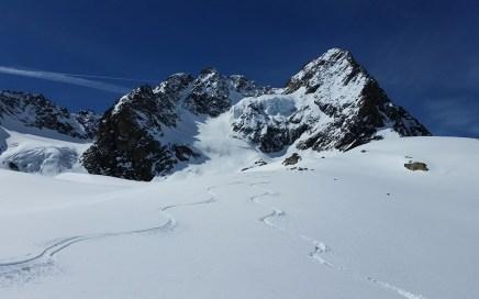 Watzespitze (3532 m), Freeride Powder Traum am Kaunergrat
