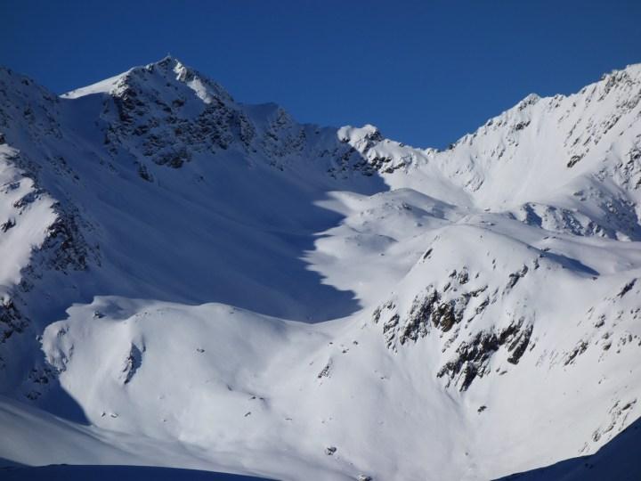 die tollen Osthänge der Kraspesspitze.