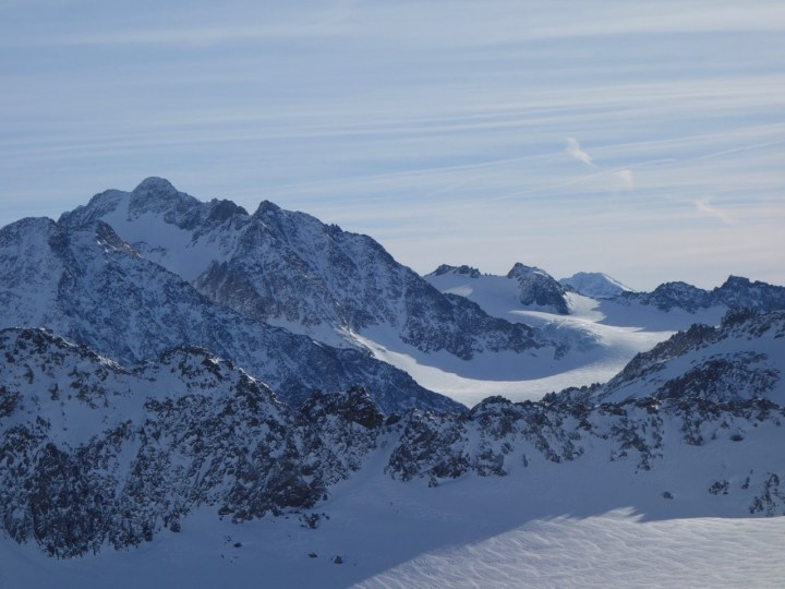 Tolle Ausblicke hier ins Gebiet der Franz-Senn-Hütte, Ruderhofspitze