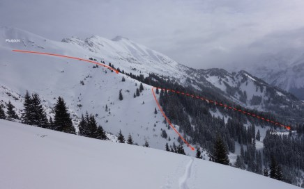 Lähn, Schlechtwetter Lines am Plattberg (2.247 m)