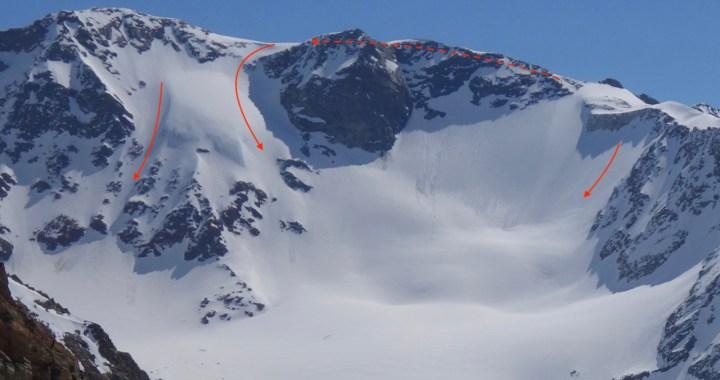 Sonklarspitze (3.463 m), Freeride Geheimtipp im Stubai