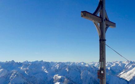 Namloser Wetterspitze, Gipfelkreuz