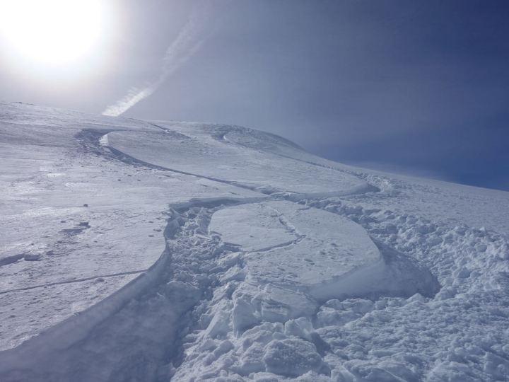 Nordseitig war der Schnee aber länger besser...