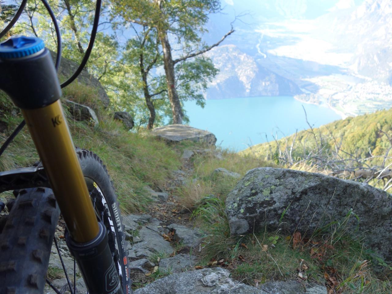 Blick zum Lago di Mezzola