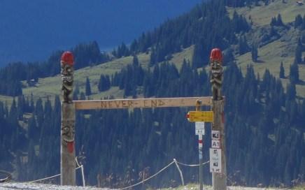 Flims Laax Bahnentour, Freeride Trailrunde mit Pep