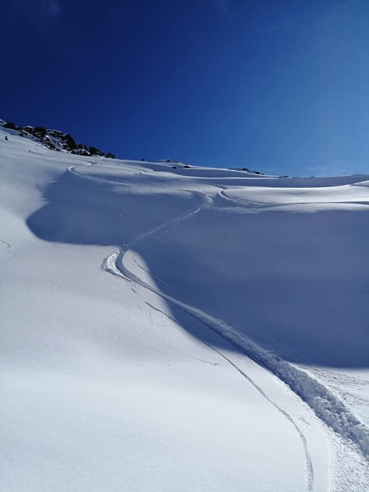 Davos KlosDavos Klosters, erste Powder-Schwünge